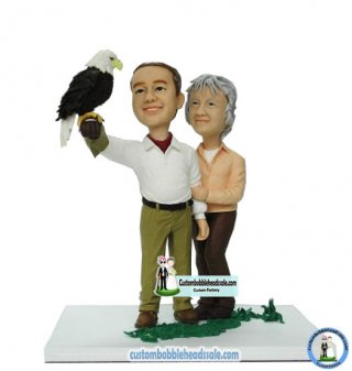 Custom Couple Bobbleheads Eagle Anniversary Gifts