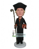 Personalized Enchanter Bobblehead Doll With Magic Wand