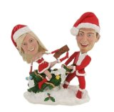 Custom Bobblehead Couple Christmas Bobble Heads Doll