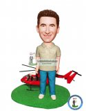 Custom Pilot Bobblehead Men Gift Ideas
