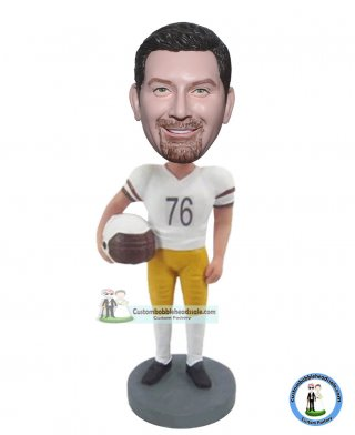 Custom American Football Player Bobblehead Of Yourself