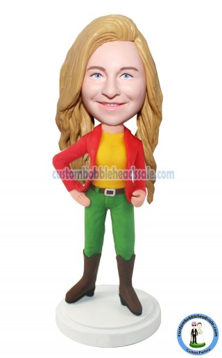 Custom Bobblehead Girl
