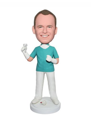 Customized Bobbleheads Male Dentist With Tooth