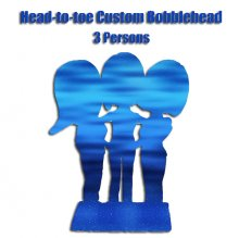 Custom Head-to-toe Three Bobblehead Doll On One Base From Photo