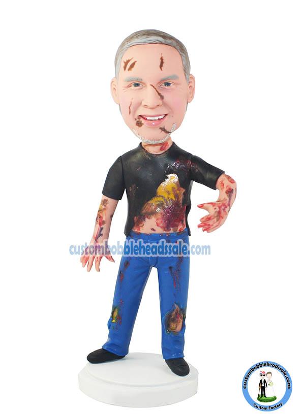 Male Zombie Custom Bobbleheads Halloween Gifts