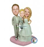 Bauble Head Family Wedding Cake Toppers Wedding Gifts