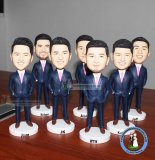 Custom Wholesale Blue Suit Bobble Head
