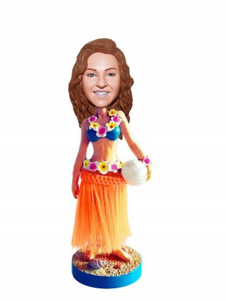 Custom Hula Girl Dancing Bobbleheads Beach Volleyball Doll