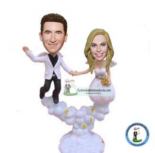 Custom Angel Wings Wedding Baoobe Heads Dolls