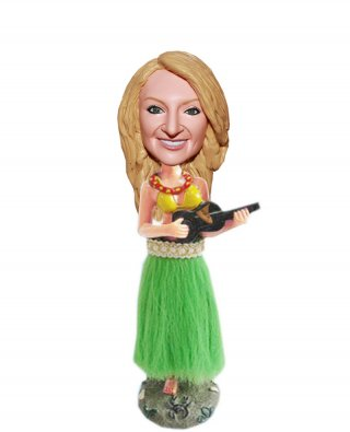 Custom Bobbleheads Hula Girl Dancing That Look Like You