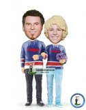Personalized Sports Couple Bobble Head Doll