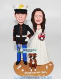 Custom Police Officer Wedding Bobblehead Uniformed From Photo