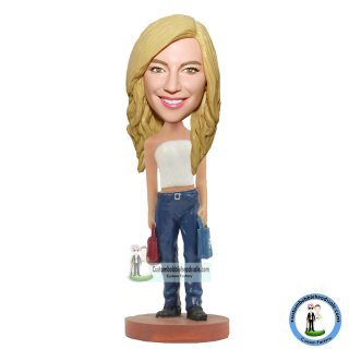 Cutsomized Bobble Heads Birthday Gifts For Her