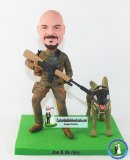 Custom Army Bobblehead Police Dog