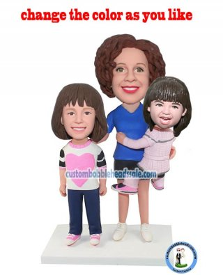 Custom Baby And Mother Bobblehead