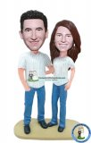 Custom Baseball Fan Couple Bobble Heads Of Yourself