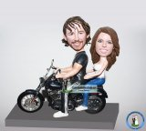 Custom Motorcycle 0Couple Bobble Heads