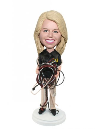 Customized Work Bobblehead Female Engineer Corporate Gifts