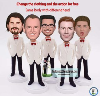 Custom Bobbleheads For groomsmen With Bow Tie Wholesale