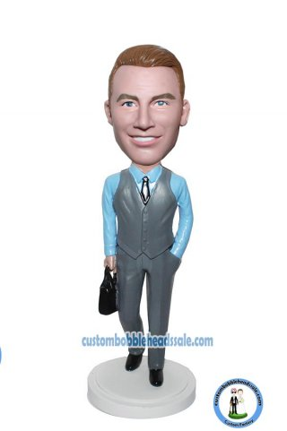 Custom Bobblehead With A Briefcase Doll