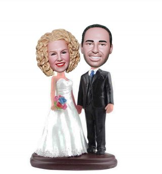 Cheap Custom Bobble Head For Wedding Cake