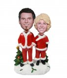 Custom Christmas Bobble Head Couple Personalised Gifts