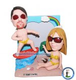 Custom Bobblehead Beach Couple Surf