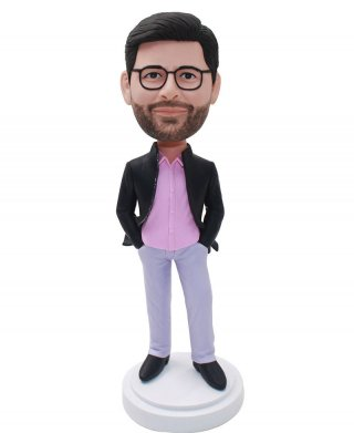 Custom Bobbleheads Man In Suit Doll From Photo