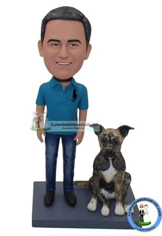 custom bobbleheads people and pet dogs