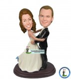 Custom Baublehead Wedding Cake Toppers