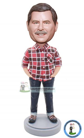 Custom Flannel Shirt Bobble Head