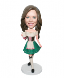 Custom Bobblehead Doll Female In A Short Victorian Dress- Girl