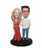 Wedding Bobbleheads Customized Couple Bobbleheads Doll In Casu