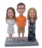 Family Of Three Bobbleheads From Photo