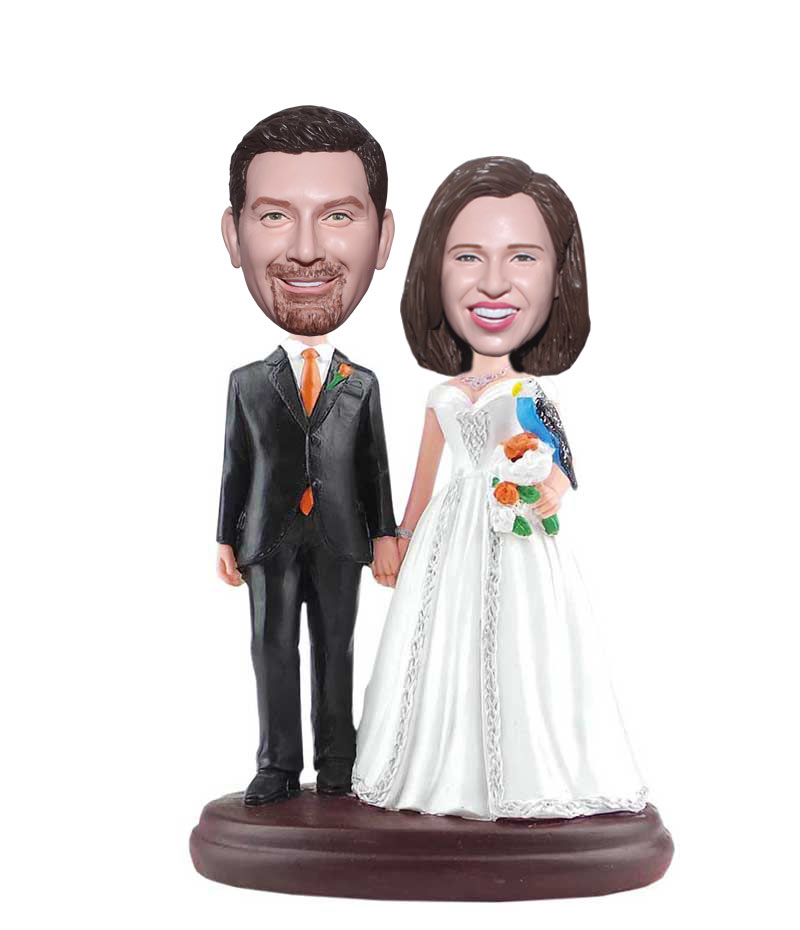 personalized bobblehead wedding cake toppers custom bobblehead cake toppers for wedding gifts 6475